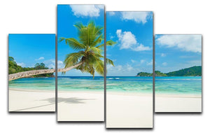 Tropical beach Baie Lazare 4 Split Panel Canvas - Canvas Art Rocks - 1