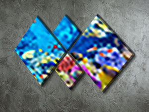 Tropical fish 4 Square Multi Panel Canvas  - Canvas Art Rocks - 2