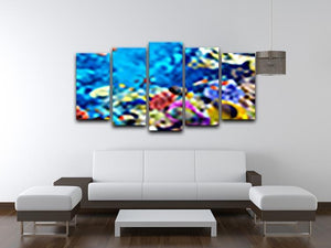 Tropical fish 5 Split Panel Canvas  - Canvas Art Rocks - 3