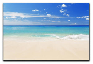 Tropical white sand beach and blue sky Canvas Print or Poster - Canvas Art Rocks - 1