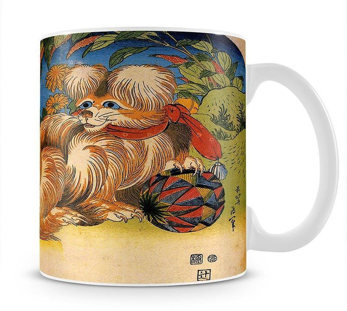 Tschin - the pet dog by Hokusai Mug