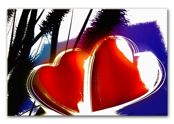 Two Hearts Canvas Print or Poster