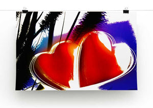 Two Hearts Print - Canvas Art Rocks - 2