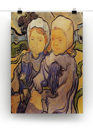 Two Children by Van Gogh Canvas Print & Poster - Canvas Art Rocks - 2