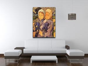 Two Children by Van Gogh Canvas Print & Poster - Canvas Art Rocks - 4