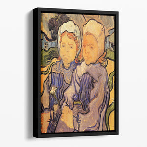 Two Children by Van Gogh Floating Framed Canvas
