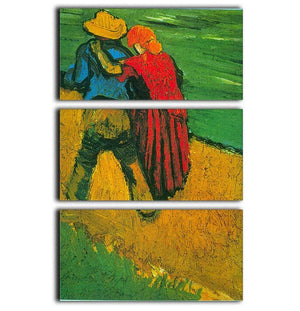 Two Lovers By Vincent Van Gogh 3 Split Panel Canvas Print - Canvas Art Rocks - 1