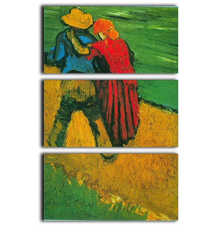 Two Lovers By Vincent Van Gogh 3 Split Panel Canvas Print