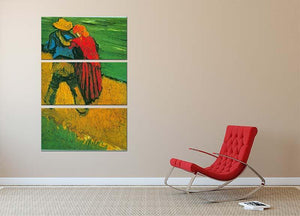 Two Lovers By Vincent Van Gogh 3 Split Panel Canvas Print - Canvas Art Rocks - 2