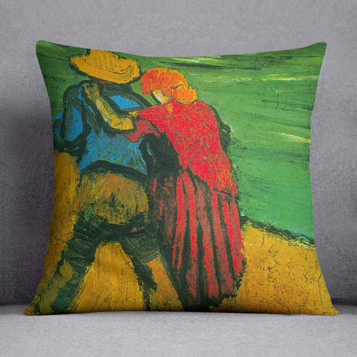 Two Lovers By Vincent Van Gogh Throw Pillow