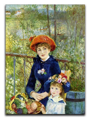 Two Sisters On The Terrace by Renoir Canvas Print or Poster  - Canvas Art Rocks - 1
