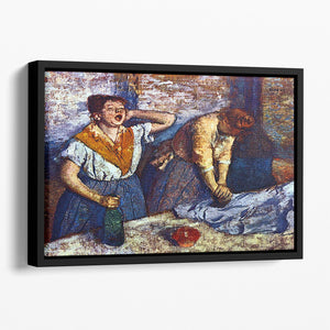 Two cleaning women by Degas Floating Framed Canvas