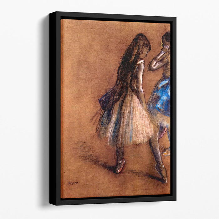 Two dancers 1 by Degas Floating Framed Canvas