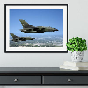 Two green fighter jets Framed Print - Canvas Art Rocks - 1