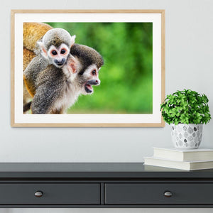 Two squirrel monkeys Framed Print - Canvas Art Rocks - 3