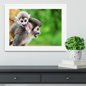 Two squirrel monkeys Framed Print - Canvas Art Rocks - 5