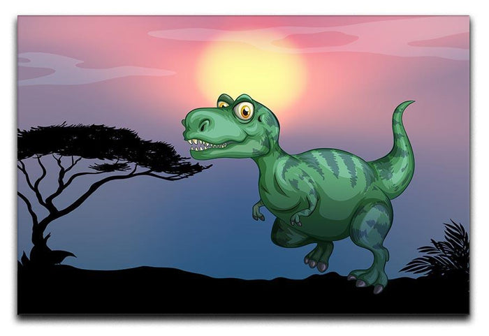 Tyrannosaurus rex in the field Canvas Print or Poster