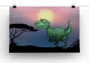 Tyrannosaurus rex in the field Canvas Print or Poster - Canvas Art Rocks - 2