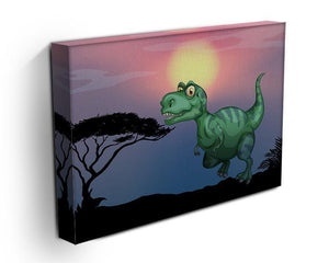 Tyrannosaurus rex in the field Canvas Print or Poster - Canvas Art Rocks - 3