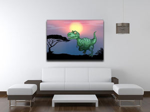 Tyrannosaurus rex in the field Canvas Print or Poster - Canvas Art Rocks - 4