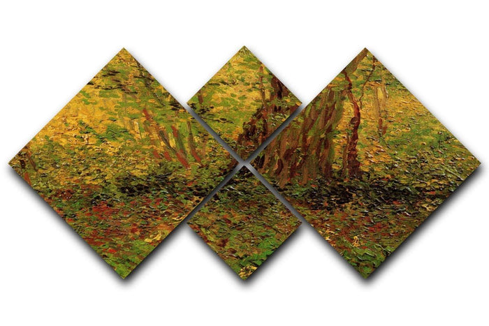 Undergrowth 2 by Van Gogh 4 Square Multi Panel Canvas
