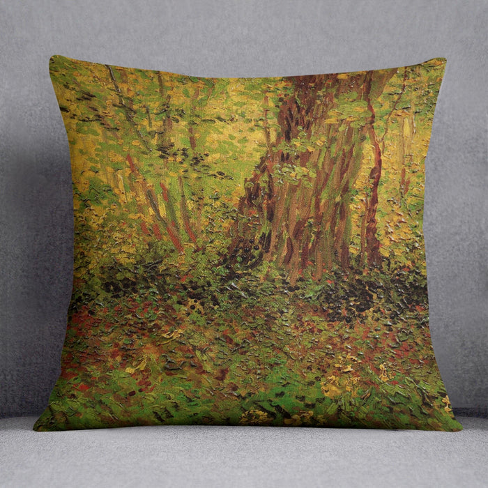 Undergrowth 2 by Van Gogh Throw Pillow