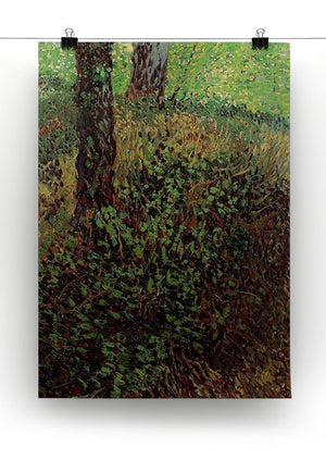 Undergrowth by Van Gogh Canvas Print & Poster - Canvas Art Rocks - 2