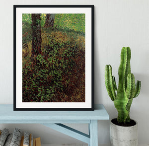 Undergrowth by Van Gogh Framed Print - Canvas Art Rocks - 1