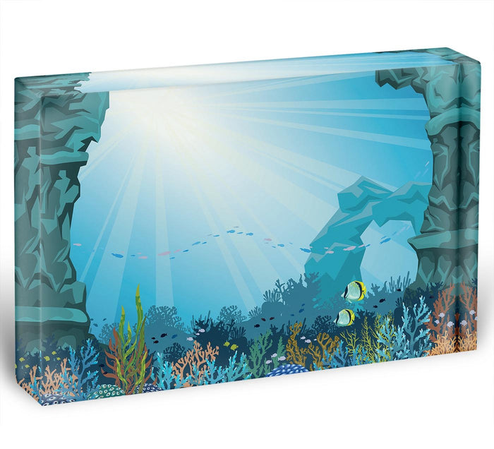 Underwater arch on a blue sea Acrylic Block