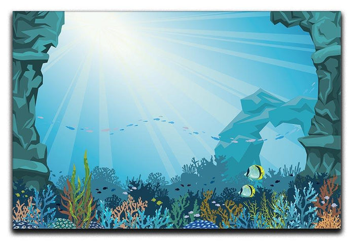 Underwater arch on a blue sea Canvas Print or Poster