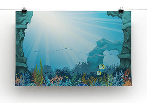 Underwater arch on a blue sea Canvas Print or Poster - Canvas Art Rocks - 2
