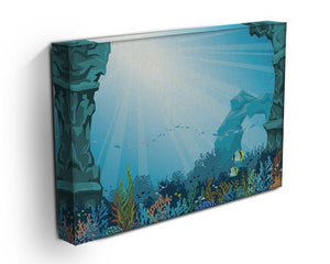 Underwater arch on a blue sea Canvas Print or Poster - Canvas Art Rocks - 3
