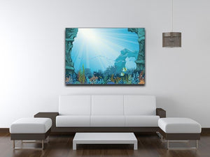 Underwater arch on a blue sea Canvas Print or Poster - Canvas Art Rocks - 4