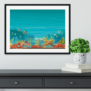 Underwater seascape Framed Print - Canvas Art Rocks - 1