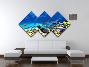 Underwater world 4 Square Multi Panel Canvas  - Canvas Art Rocks - 3