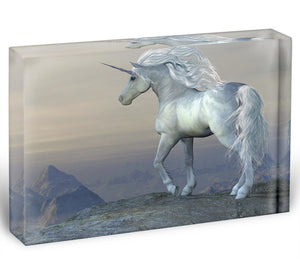 Unicorn Bluff Acrylic Block - Canvas Art Rocks - 1