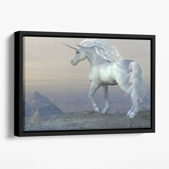 Unicorn Bluff Floating Framed Canvas