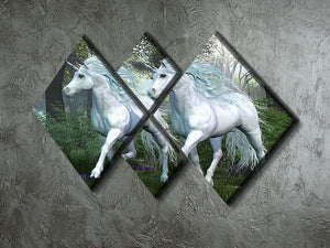 Unicorn Elm Forest 4 Square Multi Panel Canvas  - Canvas Art Rocks - 2