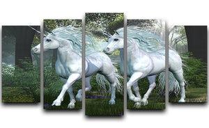 Unicorn Elm Forest 5 Split Panel Canvas  - Canvas Art Rocks - 1