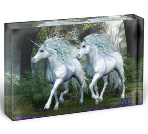 Unicorn Elm Forest Acrylic Block - Canvas Art Rocks - 1