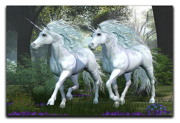 Unicorn Elm Forest Canvas Print or Poster