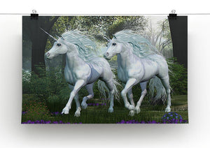 Unicorn Elm Forest Canvas Print or Poster - Canvas Art Rocks - 2