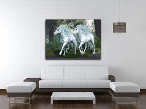 Unicorn Elm Forest Canvas Print or Poster - Canvas Art Rocks - 4