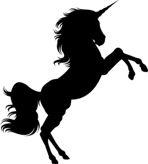 Unicorn Jumping Wall Decal - Canvas Art Rocks - 2
