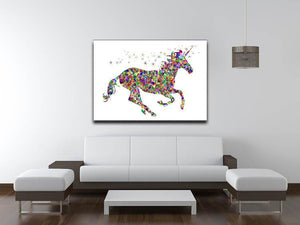 Unicorn Mosaic Canvas Print or Poster - Canvas Art Rocks
