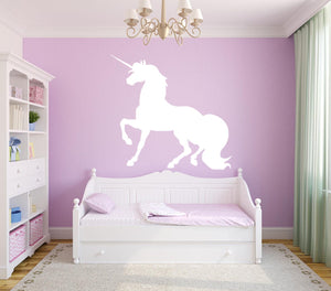 Unicorn Single Colour Wall Decal - Canvas Art Rocks - 1