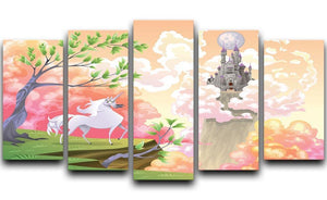 Unicorn and mythological landscape 5 Split Panel Canvas  - Canvas Art Rocks - 1