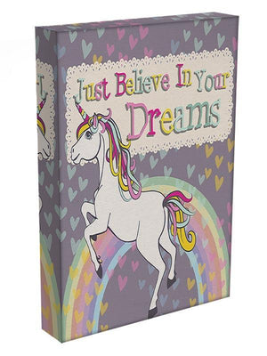 Unicorn believe in your dreams Canvas Print or Poster - Canvas Art Rocks - 3
