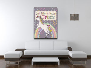 Unicorn believe in your dreams Canvas Print or Poster - Canvas Art Rocks - 4