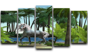 Unicorn buck prances 5 Split Panel Canvas  - Canvas Art Rocks - 1